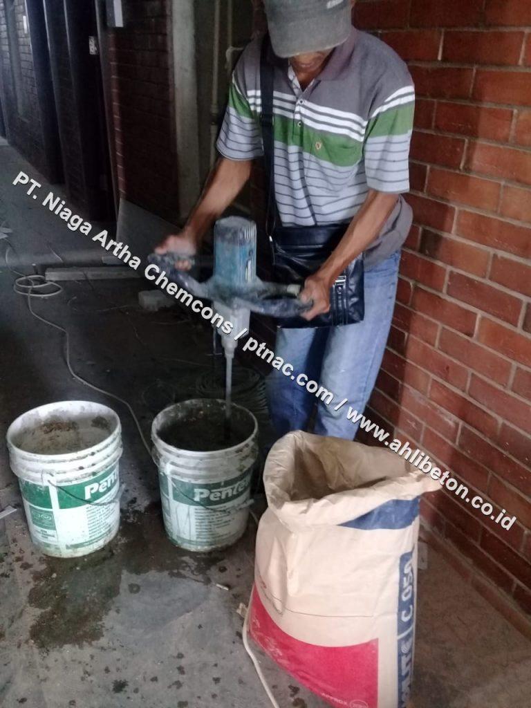 Persiapan Material Untuk Firestop Mortar