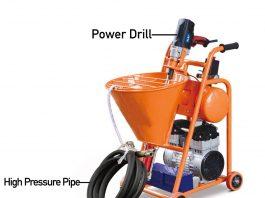 mesin sprayer waterproofing