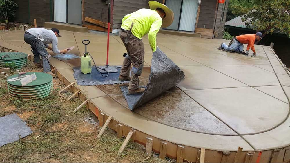 proses stamped concrete