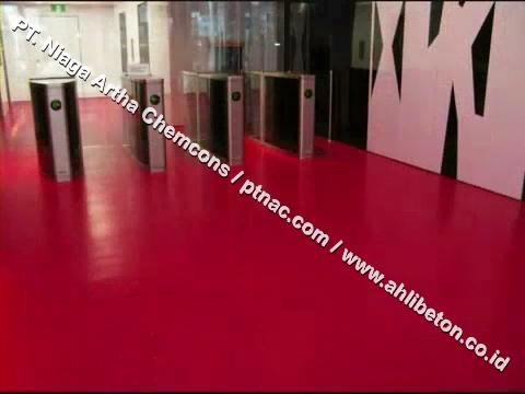 Epoxy Lantai Warna Merah