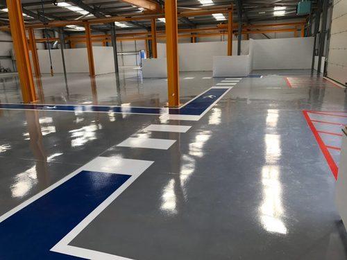 Aplikator Epoxy Lantai Warehouse
