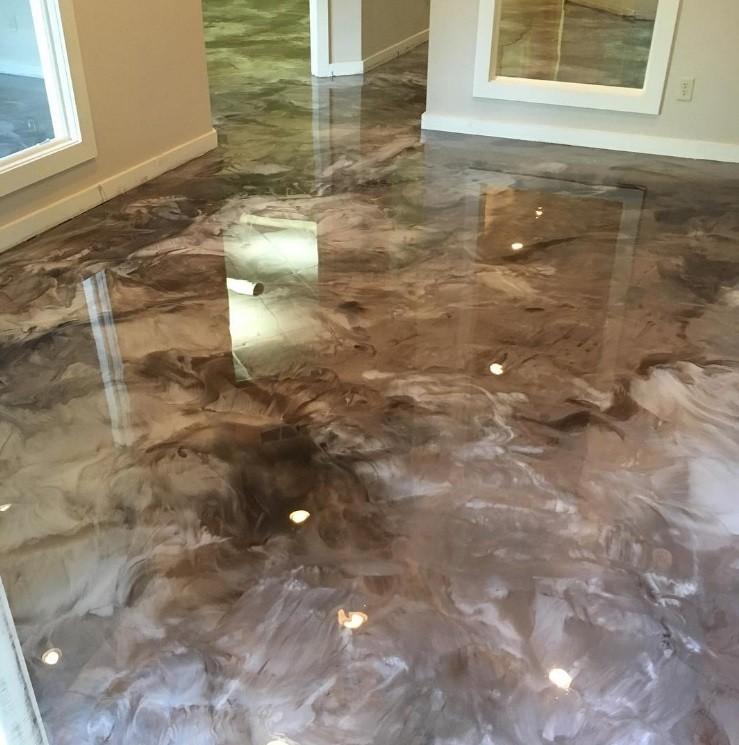Metallic Decorative Floor